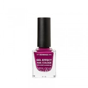 KORRES Gel Effect Nail Colour Ημιμόνιμο Βερνίκι Νυχιών Απόχρωση No72 Cherry Brandy Rose 11ml