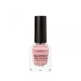 KORRES Gel Effect Nail Colour Ημιμόνιμο Βερνίκι Νυχιών Απόχρωση No07 Ballerina Rose 11ml
