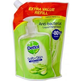 DETTOL Soft On Skin Hard On Dirt Anti-Bacterial Liquid Hand Wash Refill Aloe Vera Ανταλλακτικό Αντιβακτηριδιακό Υγρό Κρεμοσάπουνο 500ml