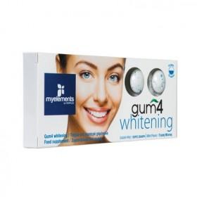 MY ELEMENTS Gum 4 Whitening Τσίχλα για Λαμπερό Χαμόγελο με Γεύση Μέντας Χωρίς Ζάχαρη 10τμχ