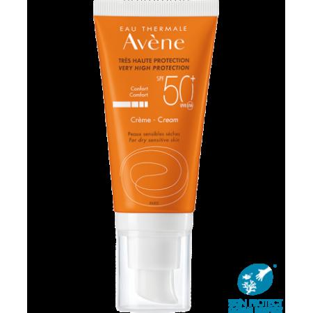 AVENE Sun Creme Αντηλιακή Κρέμα Προσώπου Πλούσιας Υφής με Άρωμα SPF50+ 50ml