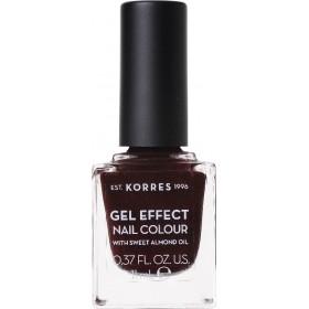 KORRES Gel Effect Nail Colour Ημιμόνιμο Βερνίκι Νυχιών Απόχρωση Νο54 Festive Red 11ml