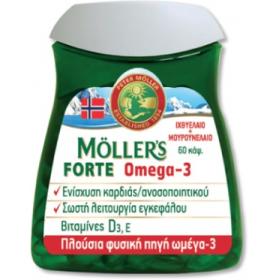 MOLLER'S Forte Omega-3 Μουρουνέλαιο 60 Κάψουλες
