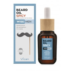 VICAN Wise Men Beard Oil Spicy Λάδι Περιποίησης για τα Γένια 30ml