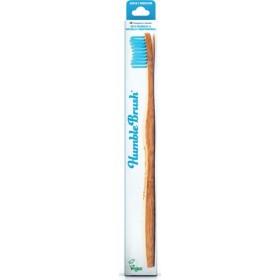THE HUMBLE CO. Adult Medium Toothbrush Οδοντόβουρτσα απο Μπαμπού με Μέτρια Τρίχα Χρώμα Μπλέ 1τμχ