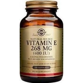 SOLGAR Vitamin E 268mg Natural 400IU 100 Μαλακές Κάψουλες