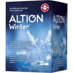 ALTION Winter Συμπλήρωμα Διατροφής για την Ενίσχυση του Ανοσοποιητικόυ Συστήματος με Προβιοτικά , Πρεβιοτικά & Βιταμίνη C  20 Φακελάκια