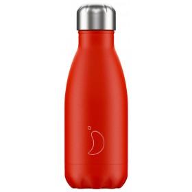 CHILLY'S Neon Edition Ανοξείδωτο Θερμός Χρώμα Κόκκινο 260ml
