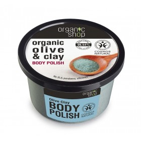 ORGANIC SHOP Body Polish Olive & Clay Scrub Σώματος Ελιά & Άργιλος 250ml