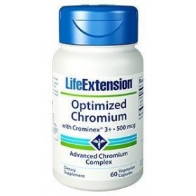 LIFE EXTENSION Optimized Chromium with Crominex 500mcg 60 CAPS