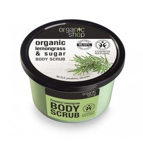 ORGANIC SHOP Body Scrub Provancal Lemongrass Scrub Σώματος Λεμονόχορτο & Ζάχαρη 250ml