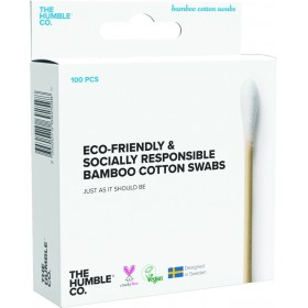 THE HUMBLE CO. Bamboo Cotton Swabs Μπατονέτες απο Μπαμπού Χρώμα Λευκό 100τμχ