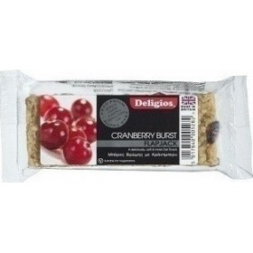 DELIGIOS Flapjack Μπάρα Βρώμης με Cranberry 80gr