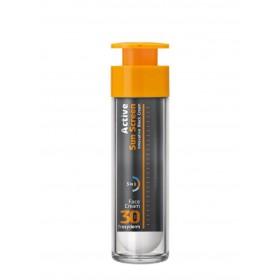FREZYDERM Active Sun Screen Face Cream Αντηλιακή Κρέμα Προσώπου με Πλούσια Υφή SPF30 50ml
