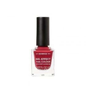 KORRES Gel Effect Nail Colour Ημιμόνιμο Βερνίκι Νυχιών Απόχρωση No52 Eternity Red Rose 11ml