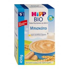 HIPP Bio Κρέμα Δημητριακών με Γάλα & Μπισκότο απο τον 6ο Μήνα 450gr