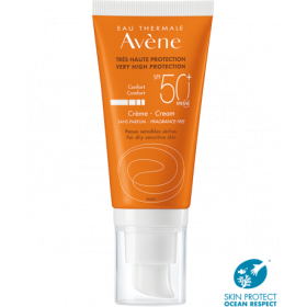 AVENE Sun Creme Αντηλιακή Κρέμα Προσώπου Πλούσιας Υφής Χωρίς Άρωμα SPF50+ 50ml
