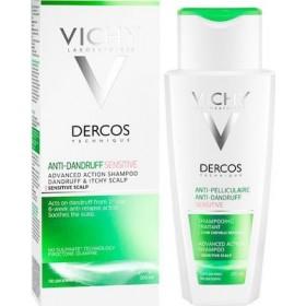 VICHY Dercos Sensitive Αντιπιτυριδικό & Καταπραυντικό Σαμπουάν για το Ευαίσθητο Τριχωτό 200ml