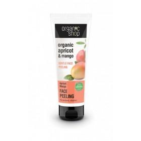 ORGANIC SHOP Face Peeling Apricot Mango Απαλή Καθαριστική Μάσκα Peeling Προσώπου Βερίκοκο & Μάνγκο 75ml
