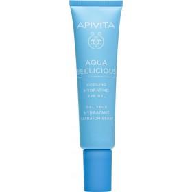 APIVITA Aqua Beelicious Cooling Hydrating Eye Gel Δροσιστικό Τζέλ Ενυδάτωσης για τα Μάτια με Λουλούδια & Μέλι 15ml