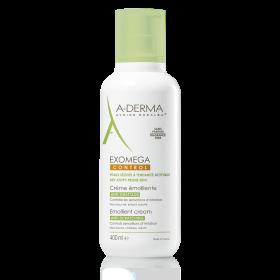 A-DERMA Exomega Control Anti-Scratching Emollient Cream Μαλακτική Κρέμα Προσώπου & Σώματος Ενάντια στον Κνησμό 400ml