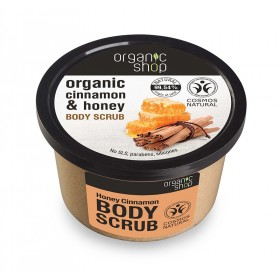 ORGANIC SHOP Body Scrub Honey Cinnamon Scrub Σώματος Κανέλα & Μέλι 250ml