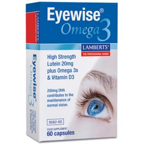LAMBERTS Eyewise Omega 3 Συμπλήρωμα Διατροφής με Ιχθυέλαιο για την Καλή Υγεία των Ματιών 60 Μαλακές Κάψουλες