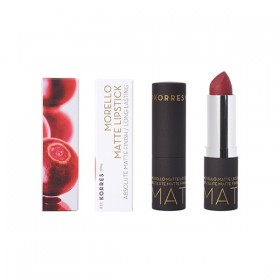KORRES Morello Matte Lipstick Μάτ Κραγιόν με Κρεμώδη Υφή για Μεγάλη Διάρκεια Απόχρωση 59 Burgundy Red Matte 3.5gr