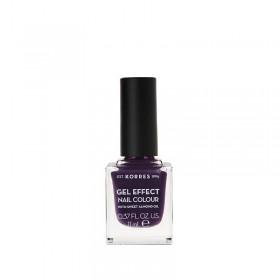 KORRES Gel Effect Nail Colour Ημιμόνιμο Βερνίκι Νυχιών Απόχρωση Νο75 Violet Garden 11ml
