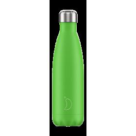 CHILLY'S Neon Edition Ανοξείδωτο Θερμός Χρώμα Πράσινο 500ml