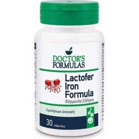 Doctor's Formulas Lactofer Iron Formula Συμπλήρωμα Διατροφής με Φόρμουλα Σιδήρου 30 Κάψουλες