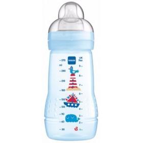 MAM Easy Active Baby Bottle Μπιμπερό 270ml Γαλάζιο 2m+