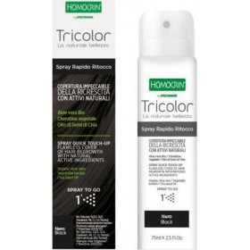 SPECCHIASOL Homocrin Spray To Go Σπρέι Βαφής Μαλλιών για Άψογη Κάλυψη στις Άσπρες Ρίζες Απόχρωση Μαύρο 75ml
