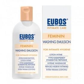 EUBOS Feminin Washing Emulsion Απαλό Υγρό για τον Καθημερινό Καθαρισμό και την Περιποίηση της Ευαίσθητης Περιοχής, 200ml