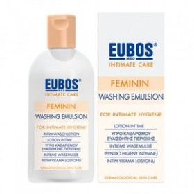 EUBOS - FEMININ LIQUID, απαλό υγρό για τον καθημερινό καθαρισμό και την περιποίηση της ευαίσθητης περιοχής, 200 ml