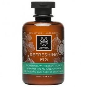 APIVITA Refreshing Fig (Σύκο) Αφρόλουτρο Σώματος με Αιθέρια Έλαια 300ml