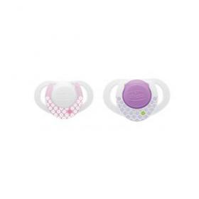 CHICCO Πιπίλα Physio Compact Small and Slim για Κορίτσι 0-6m
