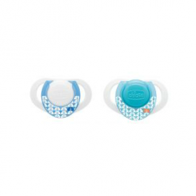 CHICCO Πιπίλα Physio Compact Small and Slim για Αγόρι 0-6m