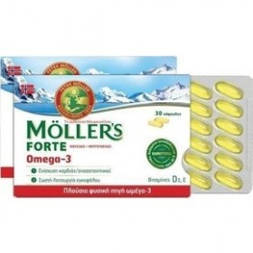 MOLLER'S Forte Omega-3 Μουρουνέλαιο 30 Κάψουλες