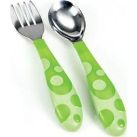 MUNCHKIN Σετ Πιρούνι & Κουτάλι (Χρώμα Πράσινο 5019090114042) 12m+