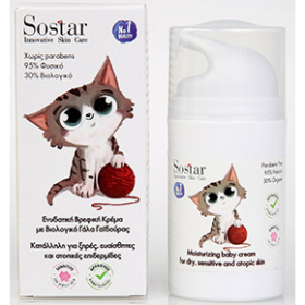 SOSTAR Baby Ενυδατική Κρέμα Ατοπικής Επιδερμίδας με Βιολογικό Γάλα Γαϊδούρας 50ml